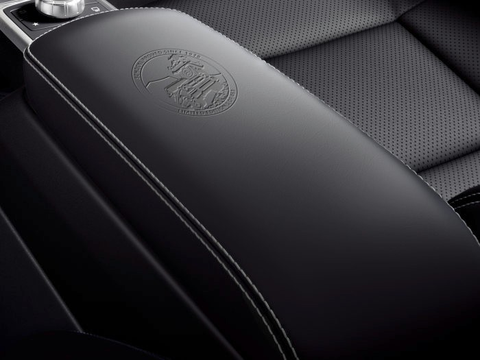 Mercedes-Benz G-Class Limited Edition, 2017 -Schöckl proved since 1979 embossed emblem on the centre armrest