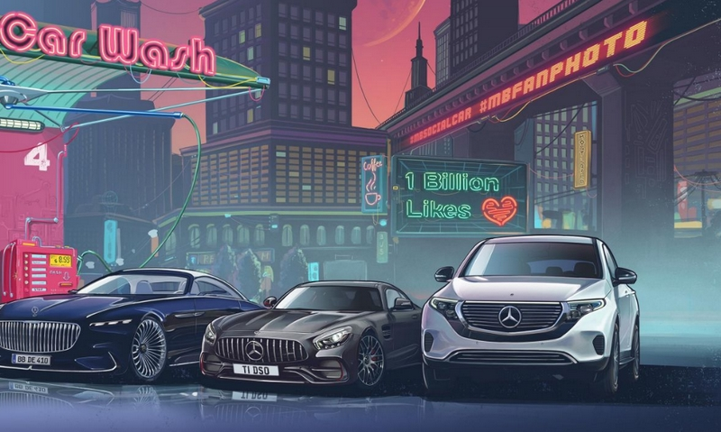 Mercedes-Benz is the brand with the most likes on Instagram-