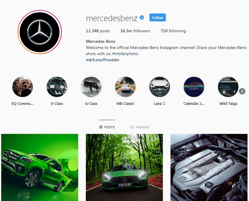 Mercedes-Benz is the brand with the most likes on Instagram-01