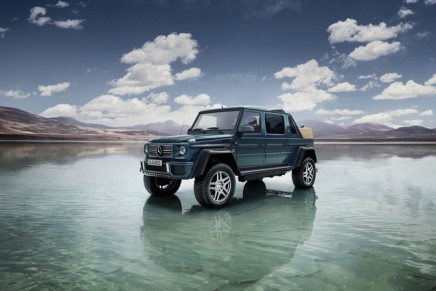 The open-top G 650 Landaulet is the first off-roader from the Mercedes-Maybach sub-brand