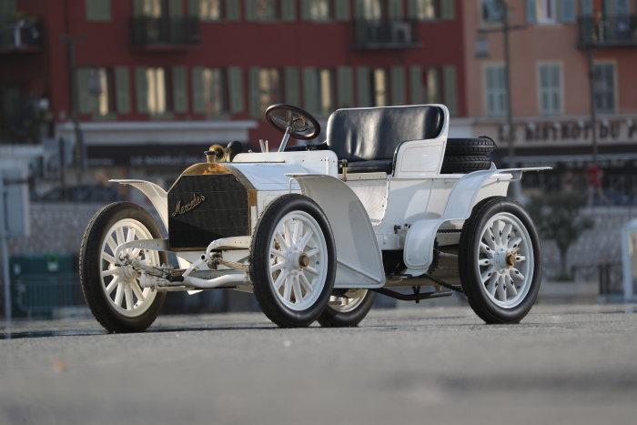 Mercedes-Simplex 40 PS, built in 1903, at Classic Insight Nice - La TurbieApril 2017