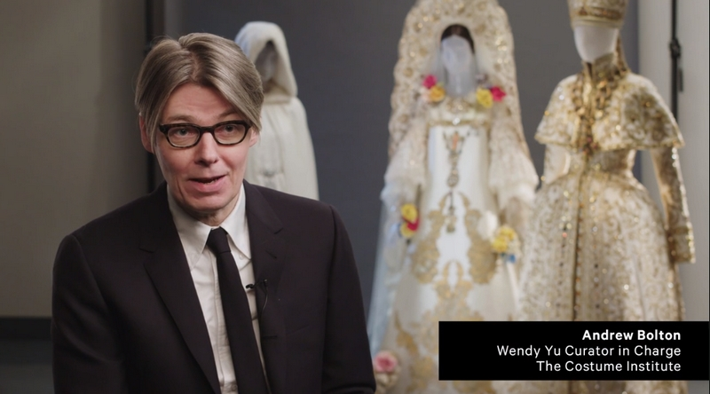 Met's exhibition 2018 Heavenly Bodies Fashion and the Catholic Imagination video capture