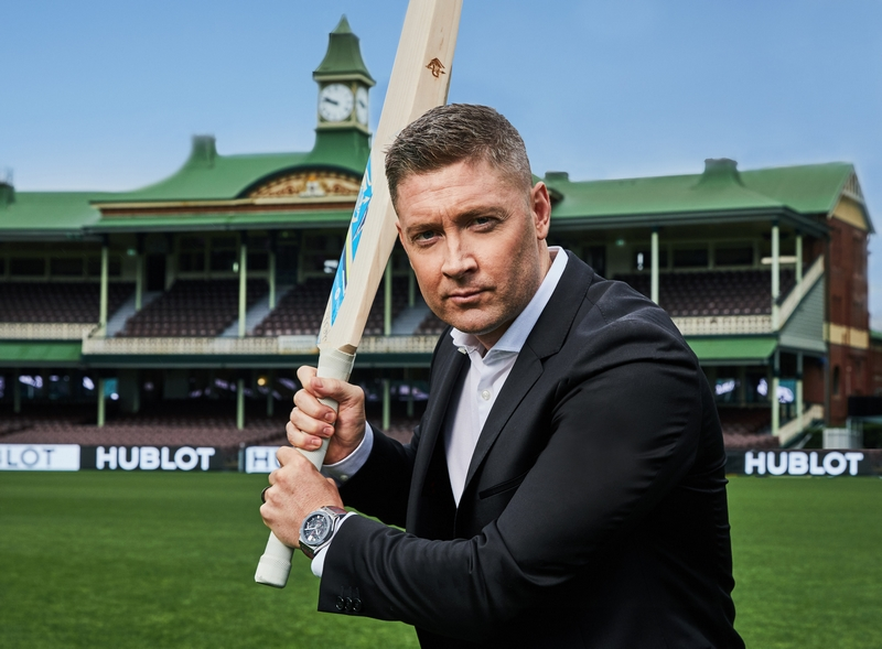 Michael Clarke, Hublot ambassador, with the ICC watch - images