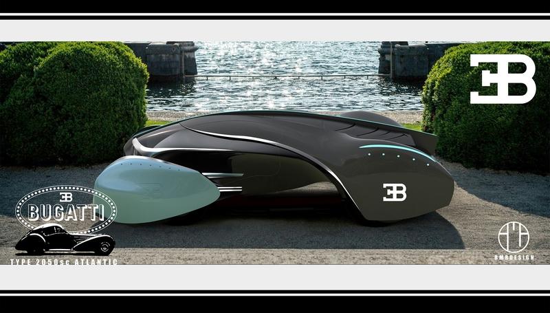 Michelin Concours d'Elegance 2050 – Future Classic -Boussid Mohammed Ramdane of Oran, Algeria, for design entry Bugatti Type 2050 SC Atlantic-