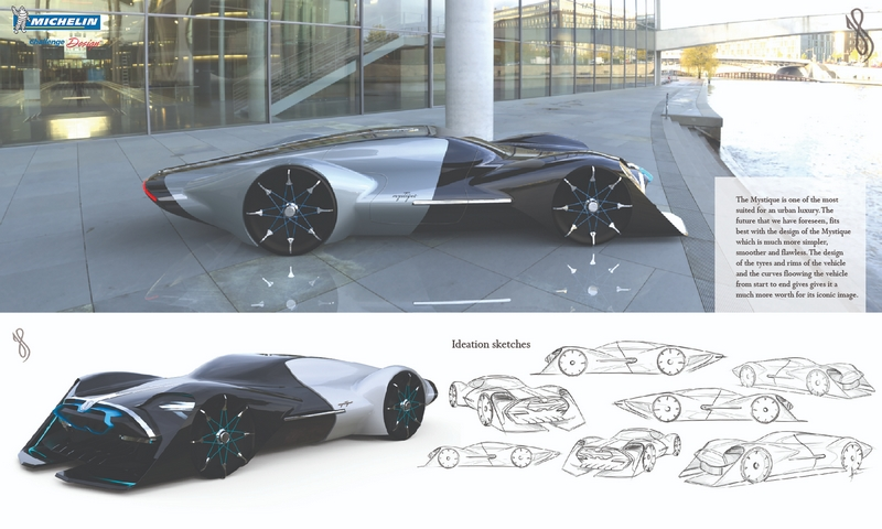 Michelin Concours d'Elegance 2050 – Future Classic -Harsh Panchal of Vadodra, India, for design entry Mystique-