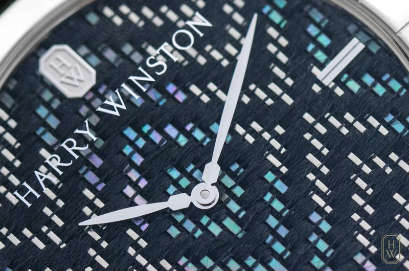 Midnight Precious Weaving watch by Harry Winston - the dial