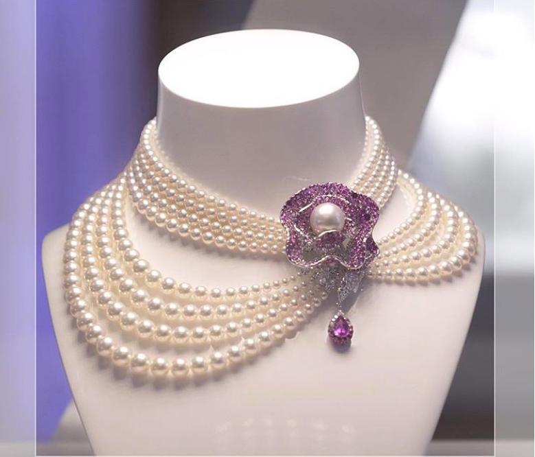 Mikimoto Jeux de Rubans necklace II