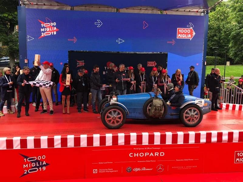 Mille Miglia 2019 - cars podium