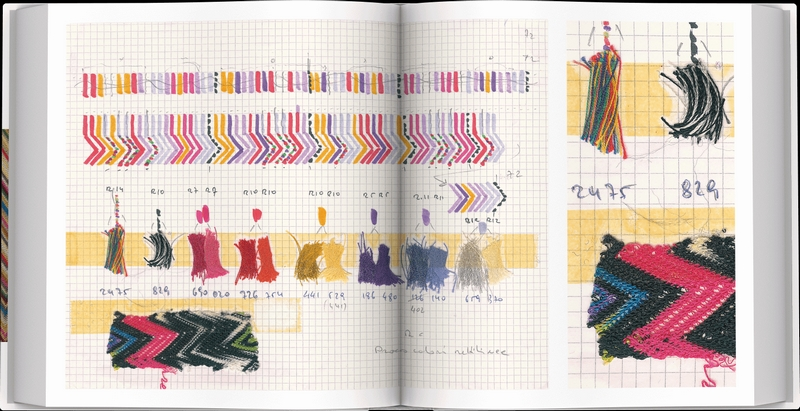Missoni's The Great Italian Fashion book enriched with exclusive original fabric attached by hand-