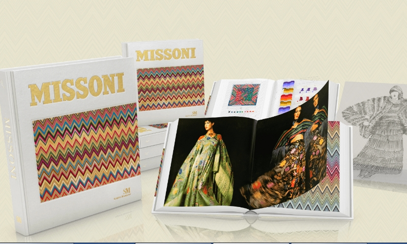 Missoni's The Great Italian Fashion book enriched with exclusive original fabric attached by hand