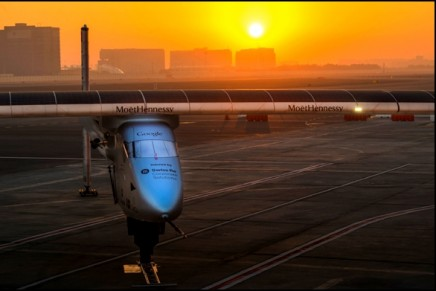 Solar Impulse 2. First round-the-world flight powered only by solar energy