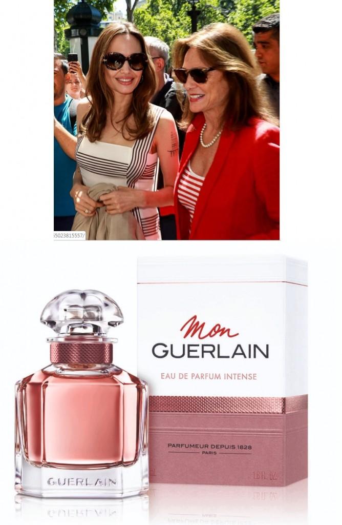 Mon Guerlain Eau de Parfum Intense perfume launch with Angelina Jolie in Paris - July 2019-02