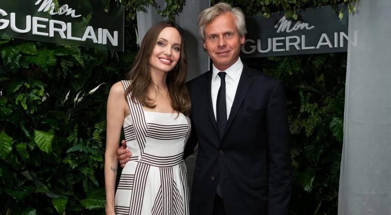 Mon Guerlain Eau de Parfum Intense perfume launch with Angelina Jolie in Paris - July 2019