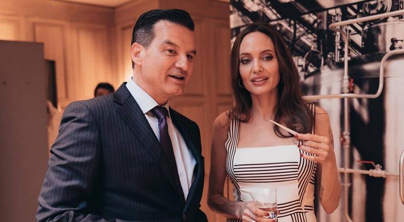 Mon Guerlain Eau de Parfum Intense perfume launch with Angelina Jolie in Paris