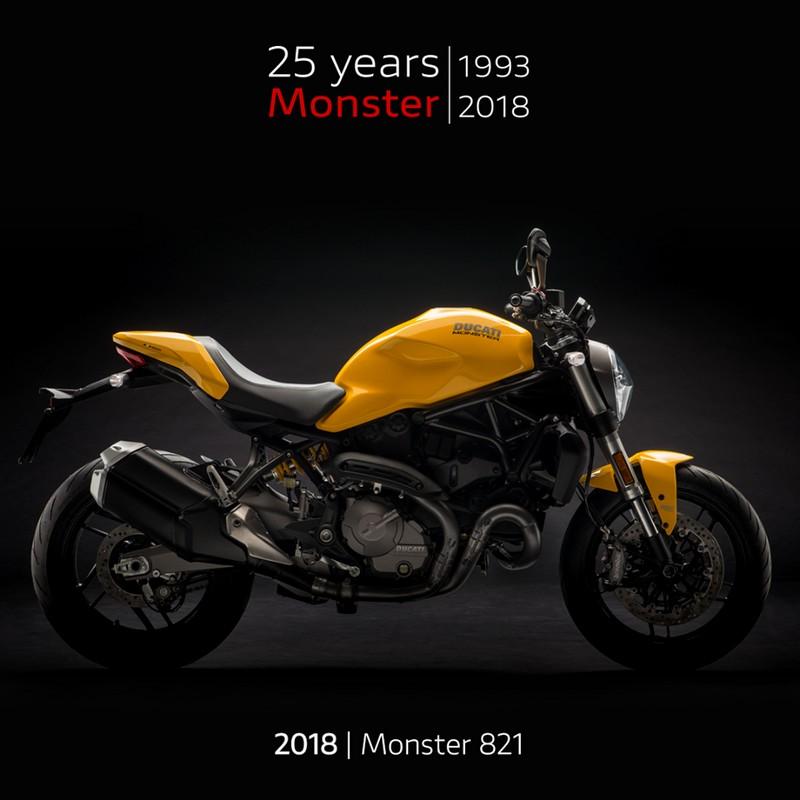 Monster 821 from 2018