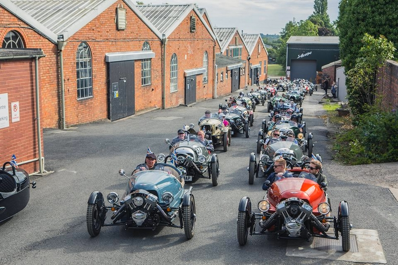 Morgan Motor Company, welcomed over 1,500 Morgans from a 108-year history in the Malvern Three Counties Showground-2017