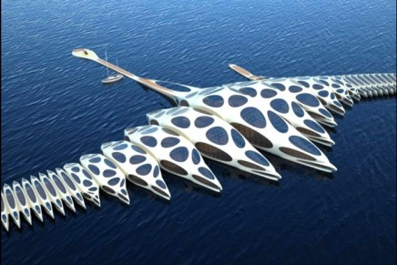 Part luxury hotel. Part cruise ship. Morphotel changes shape to surf the ocean.