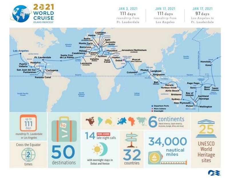Most Destination-Rich World Cruise Ever Offered
