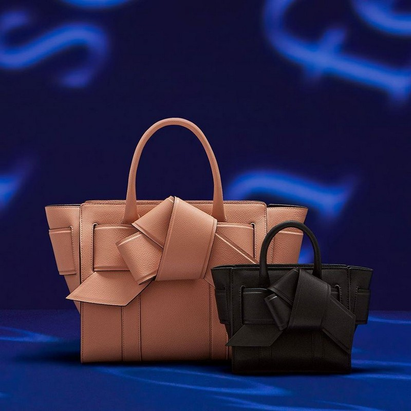 Mulberry Musubi Bayswaters from Mulberry collaboration with Acne Studios are finished with a festive bow.