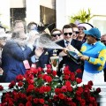 Mumm is the Official Champagne of the Kentucky Derby and Churchill Downs Racetrack-Victor Espinoza on American Pharoah