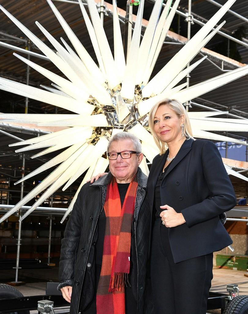 Nadja Swarovski and Daniel Libeskind. Credit Bryan Bedder Getty for Swarovski
