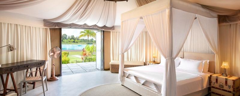 Natra Bintan, A Tribute Portfolio Resort is an idyllic glamping retreat set along the extraordinary Crystal Lagoon.