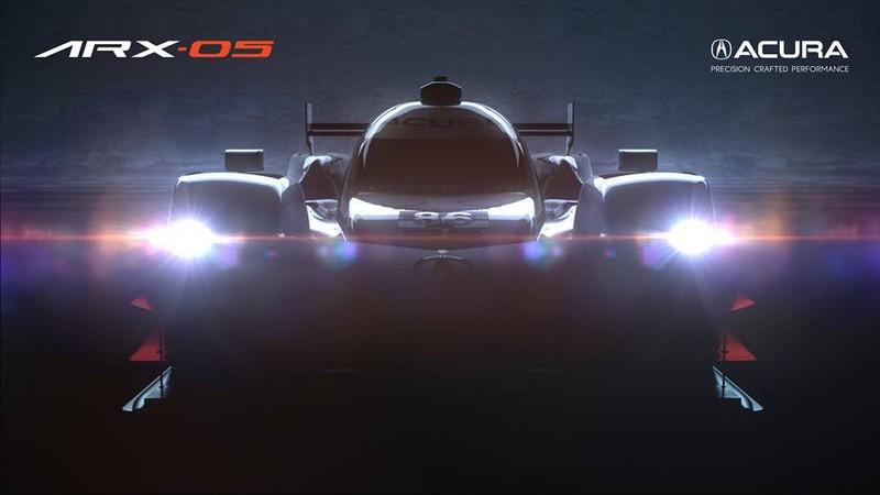 New Acura ARX-05 prototype race car debuts during 2017 Monterey Car Week