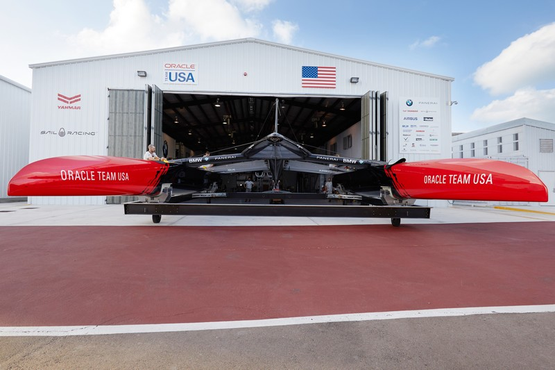 New America's Cup class yacht achieves speeds of up to 100 km h