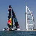 New GC32 foiling catamaran launched in front of Burj al Arab