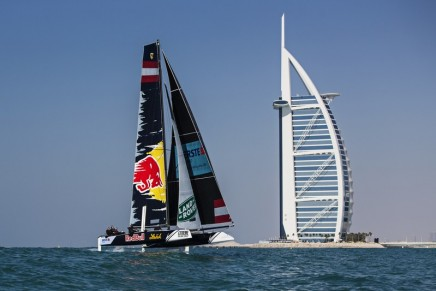 Extreme Sailing Series 2016: New GC32 foiling catamaran launched in front of Burj al Arab