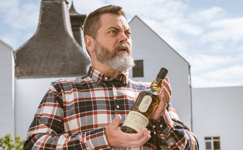 Nick Offerman Single-Handedly Discovers How to Make Scotch Whisky