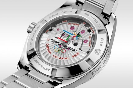 """#OlympicWinterGames: Counting down in style, with the OMEGA Seamaster Aqua Terra """"PyeongChang 2018"""""""