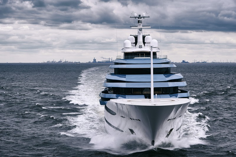 Oceanco 110m 361ft JUBILEE represents a number of firsts in yachting-