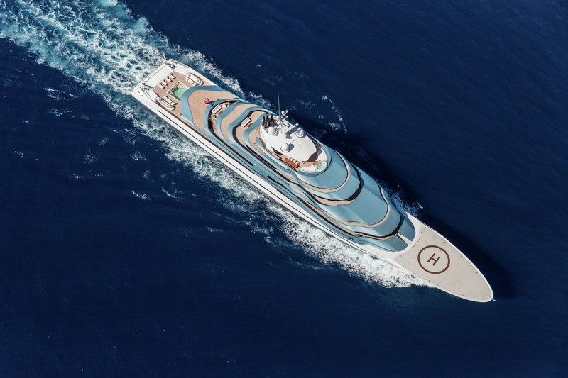 Oceanco 110m 361ft JUBILEE represents a number of firsts in yachting