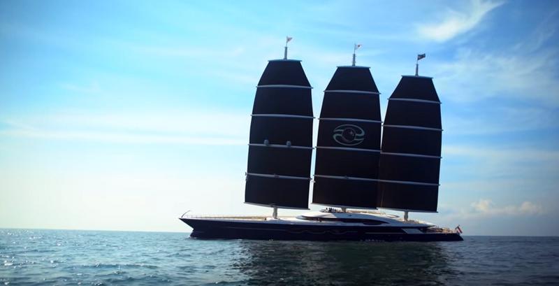 Oceanco Black Pearl sailing yacht-sea trials