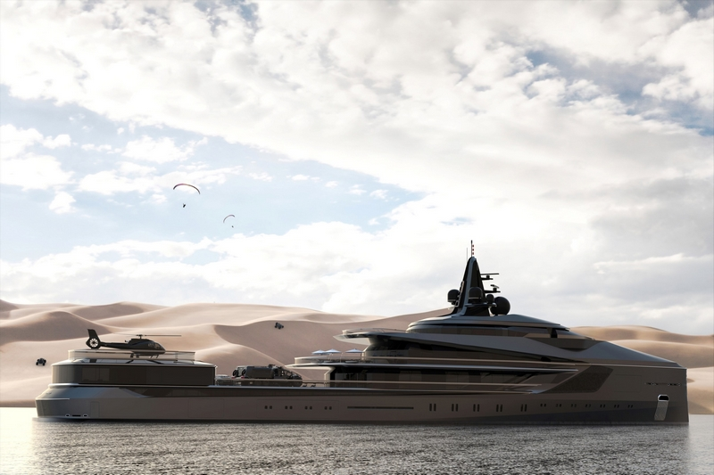 Oceanco Unveiled Esquel105-Meter Expedition Yacht