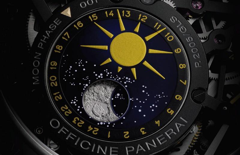 Officine Panerai L'Astronomo - Luminor 1950 Tourbillon Moon Phases Equation of Time GMT - moonphase