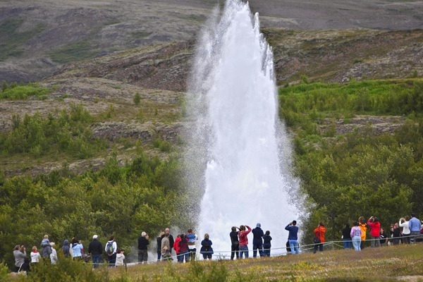 One of the greatest natural attractions of Iceland and part of the famous Golden Circle Tour The Great Geysir, or Stori-Geysir