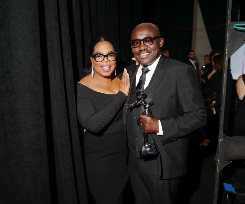 Oprah Winfrey and Edward Enninful