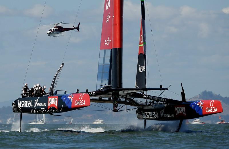 Oracle Team flying