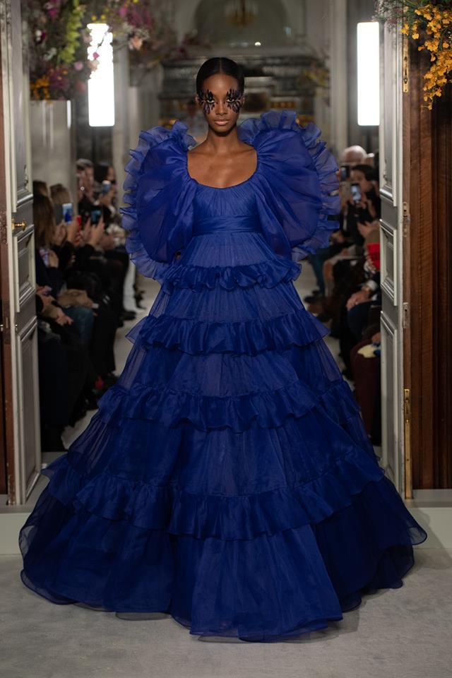 Ortensia blu look - Valentino Haute Couture SS 2019