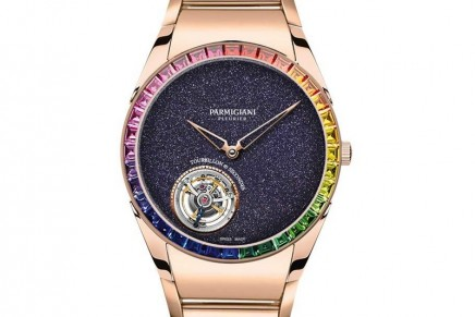 Parmigiani Fleurier Tonda 1950 Tourbillon Galaxy Rainbow has one of the world's thinnest tourbillons