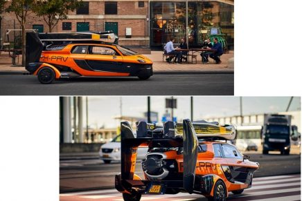 The Pal-V Liberty flying car has been approved for road usage and can now be spotted on the European roads