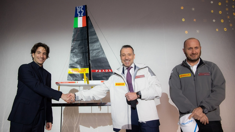Panerai for Luna Rossa partnership - From left to right- Lorenzo Bertelli, Jean-Marc Pontroué, Max Sirena
