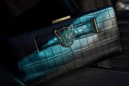 This new Cartier Panther motif on clutches can also be worn as a brooch