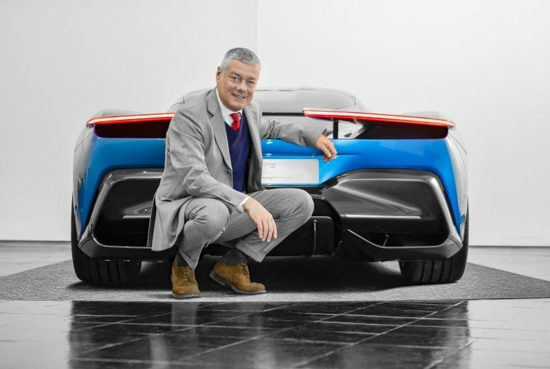 Paolo Pininfarina with PF0 Prototype