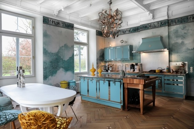 Pastel Turquoise & Satin Nickel 2019