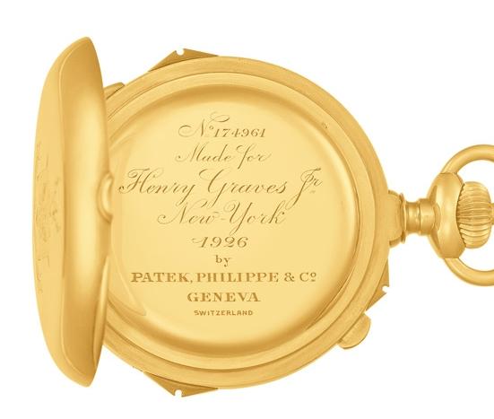Patek Philippe Grand Exhibition 2017 New Yok Cipriani - Henry Graves, Jr's Grande Complication Pocket Watch 1919-