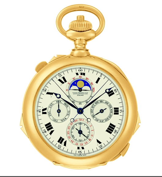 Patek Philippe Grand Exhibition 2017 New Yok Cipriani - Henry Graves, Jr's Grande Complication Pocket Watch 1919