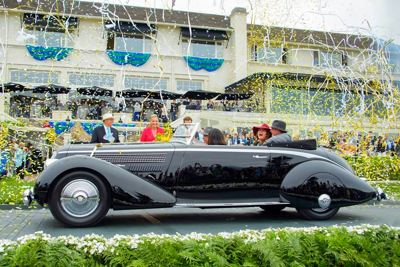 Pebble Beach Concours d'Elegance - 2016 Best of Show Winner - the 1936 Lancia Astura Pinin Farina Cabriolet, owned by first-time entrant Richard Mattei of Paradise Valley, Arizona